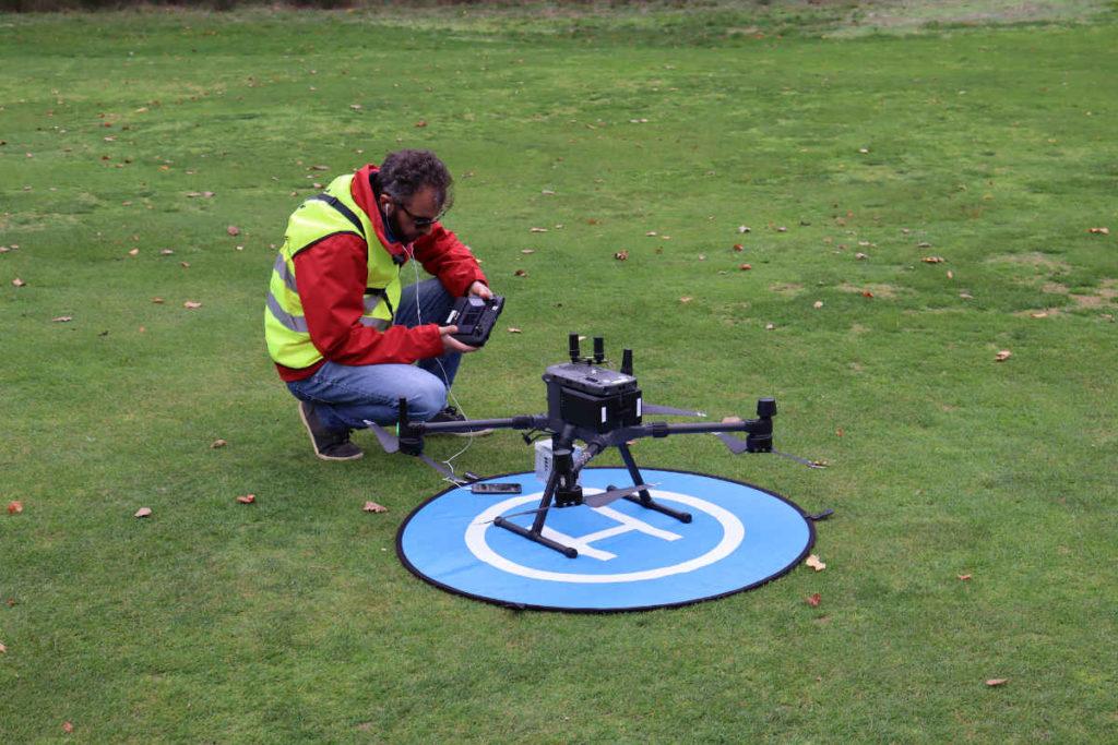 Relevé lidar par drone